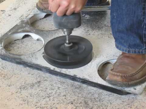 Cutting large diameter holes in Raised Floor Tiles  CHT