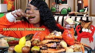 Throwback Seafood Boil from King Crab Shack; 4LBS CRAB LEGS, 2LB SCALLOPS, MUSSELS, CLAMS