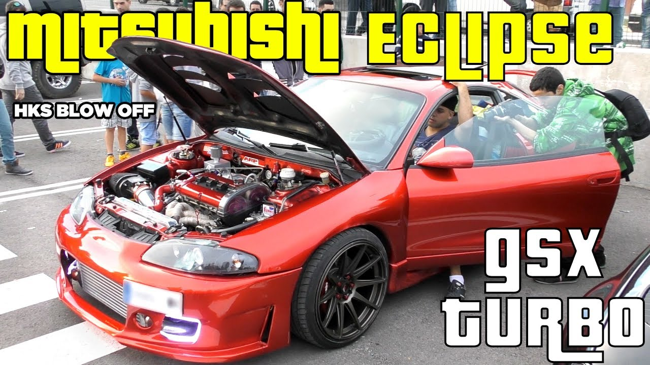 Mitsubishi Eclipse Turbo Sound Gsx Modified Car W Loud Exhaust