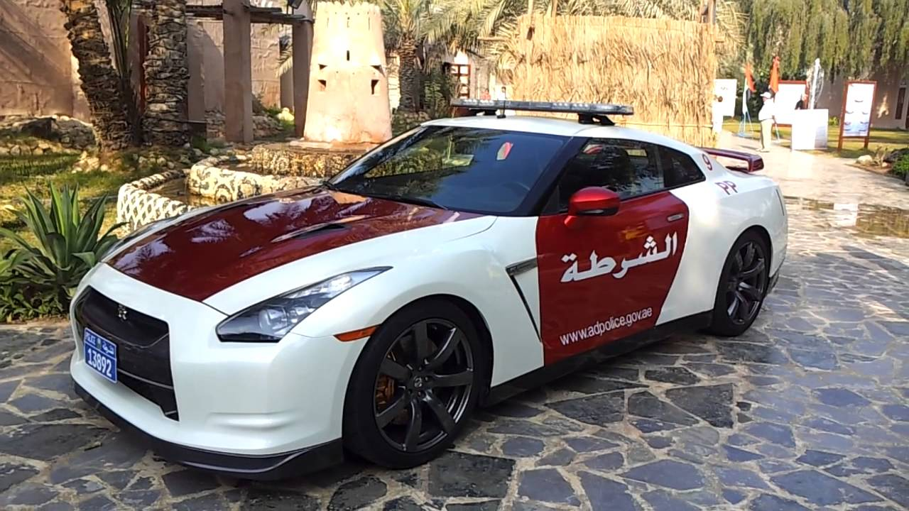 Abu Dhabi Police Car Nissan Gt R Youtube