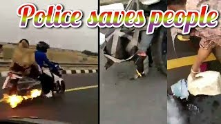 police saves people | Accident 2019 | police siren | Highway accident | just fun channel number 1pol