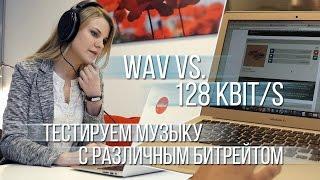 Можно ли услышать разницу между 128 кбит/с и WAV треком? Тестируем музыку с различным битрейтом