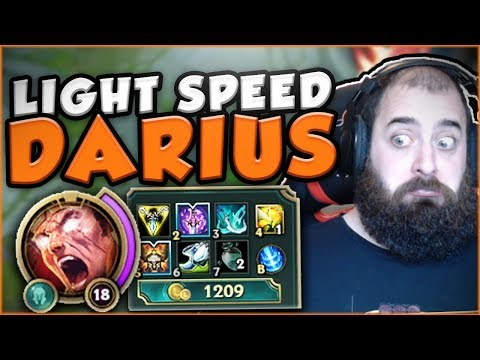 LIGHT SPEED DARIUS! THE FASTEST POSSIBLE DARIUS BUILD! NEW DARIUS TOP GAMEPLAY! - League of Legends