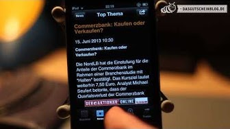 Die Börse-App von Flatex im Test auf dasgutscheinblog.de