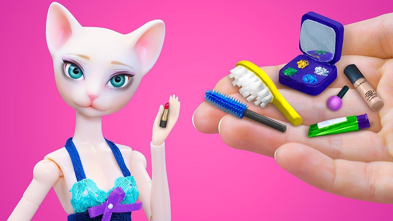 18 Ý Tưởng Đồ Búp Bê Barbie Mini / Trang Điểm Búp Bê