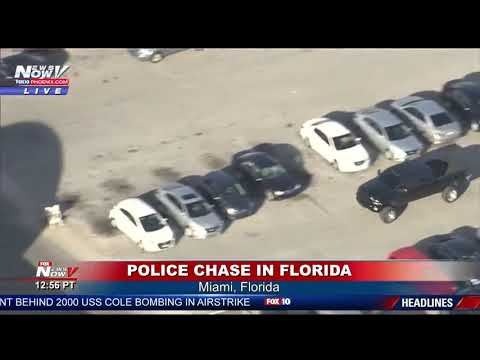 FULL POLICE CHASE  High Speed Chase In Miami, Florida