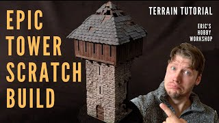 EPIC Ruined Watchtower Built from SCRATCH! Realistic Terrain Tutorial 4 Warhammer, DnD, Mordheim