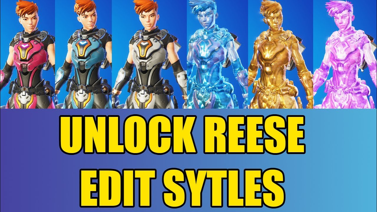 Download How to Unlock REESE Bonus Edit Styles in Fortnite