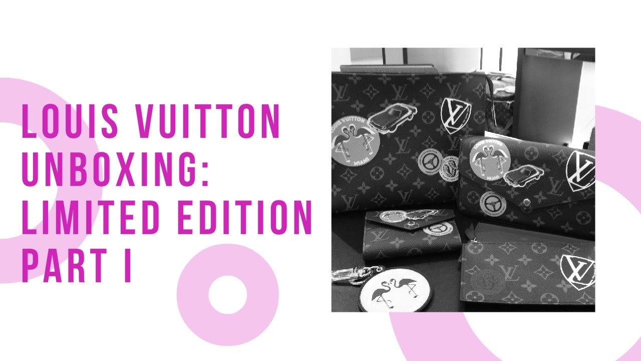 fb34b678f36e Louis Vuitton Unboxing  Limited Edition Part 1 (World Tour) - Palm Springs  Mini Backpack - YouTube