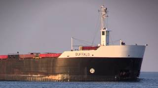 Freighter Buffalo Heads SouthFrom Lake St. Clair. Port Huron, MI. 5 18 2014