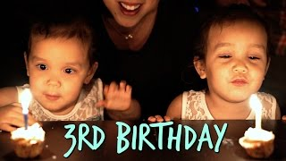 Miya and Keira's 3rd Birthday! - March 07, 2017 - ItsJudysLife Vlogs