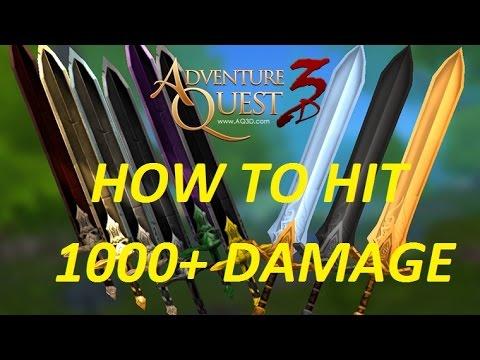 AQ3D How To Hit 1000 DAMAGE! AdventureQuest 3D
