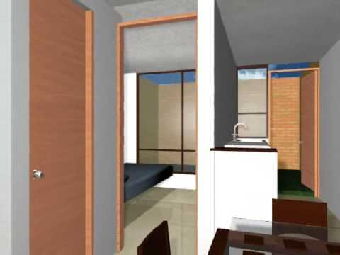 Casa tipo 2 vivienda de inter s social chocont y suesca for Fachadas de casas modernas de interes social