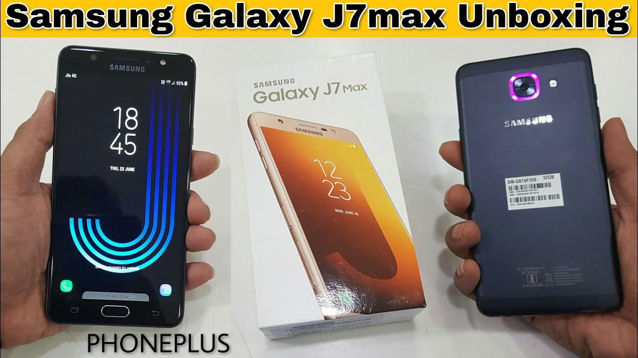 the best attitude 83b31 e8a6a Samsung Galaxy J7max Unboxing | 1st Social Camera phone by Samsung