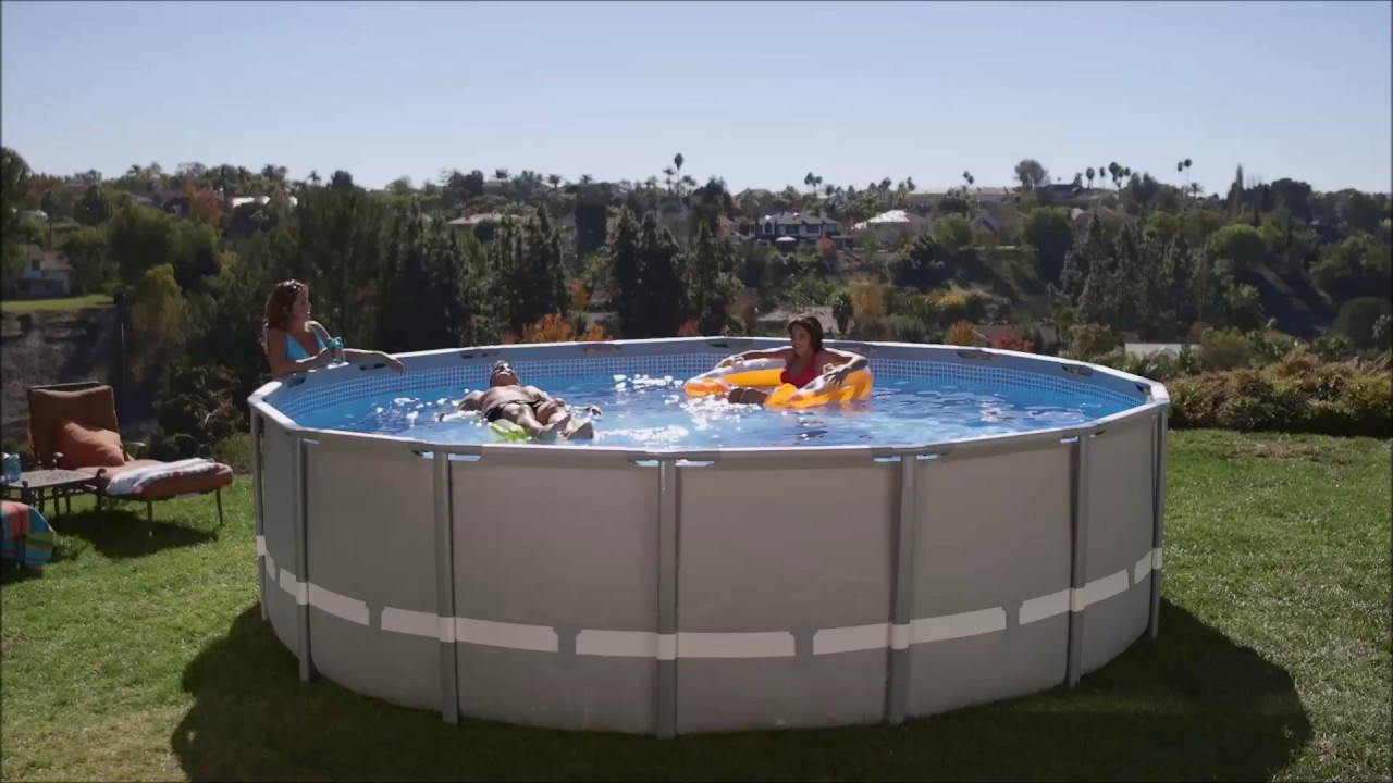 piscine intex ultra frame youtube. Black Bedroom Furniture Sets. Home Design Ideas