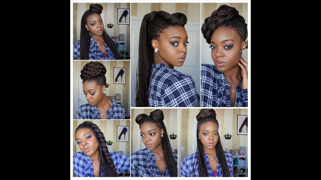 different ways to style straight hair styling box braids 7 ways protective styles 2640 | maxresdefault