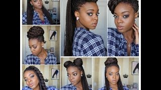 styling box braids 7 ways   protective styles