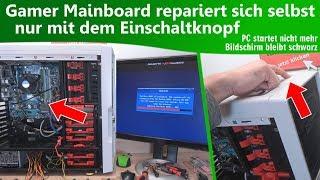 Gamer Mainboard repariert sich selbst nur mit dem Einschaltknopf 🤔 - PC startet nicht
