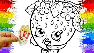 colorindo desenhos shopkins cartoon videos como pintar paginas para