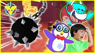 Roblox Death Run WE FOUND RYAN from Ryan ToysReview !! Let's Play with Big Gil Vs Peck