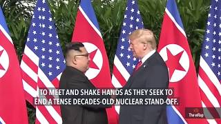 Trump, Kim share historic handshake