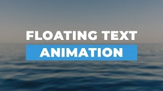 Floating Text Animation Using HTML & CSS