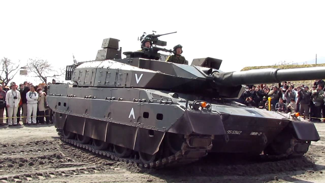 10式戦車デモンストレーション! - YouTube
