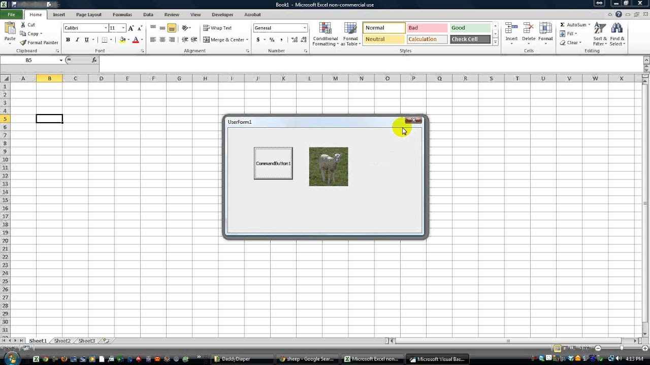Drawing Lines With Vba In Excel : Make images look and feel like buttons on your userform