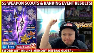 55 Weapon Scouts & Staged Halloween Party Ranking Results (SAOMD Memory Defrag)