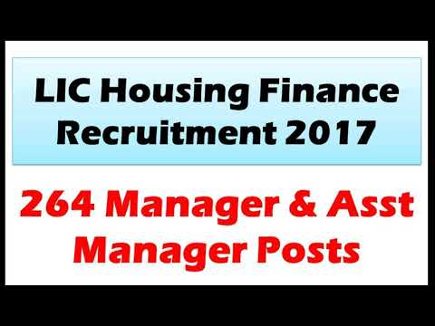 How to apply LIC  housing finance recruitment 2017