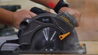 "TECCPO @ 1500W 7-1/4"" Circular Saw with Laser Guide - TACS01P"