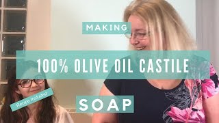How to make Traditional Olive Oil - Castile Soap with just 3 ingredients!