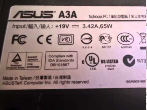 DRIVERS UPDATE: ASUS LAPTOP A3A