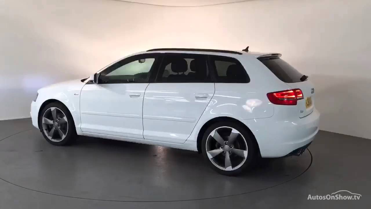fl61uod audi a3 sportback tdi s line se white 2011 derby. Black Bedroom Furniture Sets. Home Design Ideas