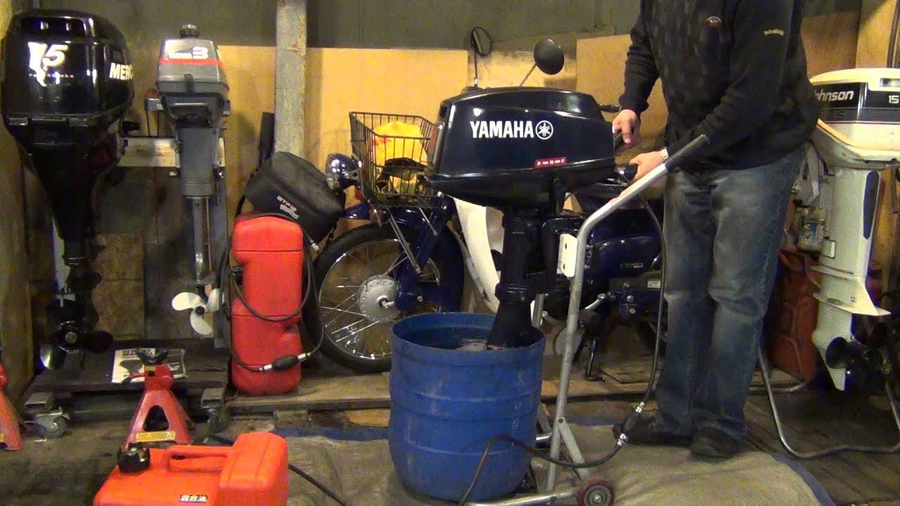Запуск лодочного мотора ,,Yamaha 8  Enduro,,  (модель 677)