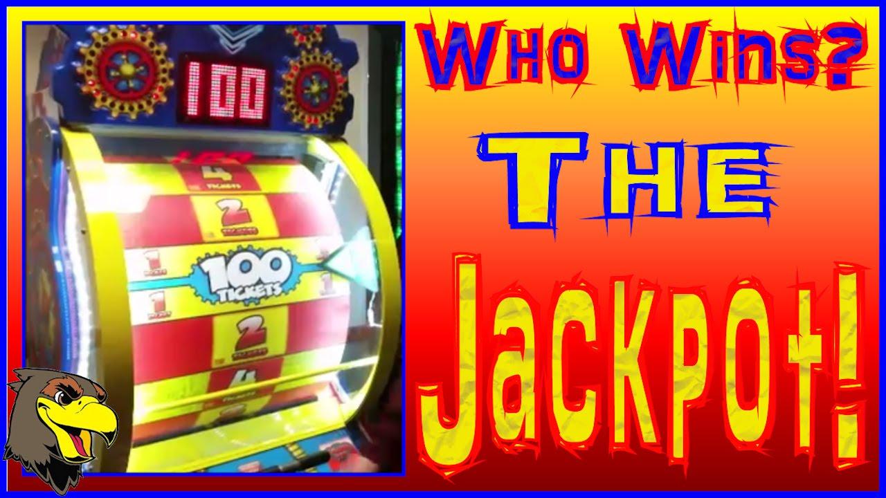winning arcade game jackpots at chuck e cheeses big ticket games