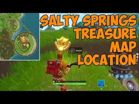 Salty Springs Treasure Map Location | Fortnite Battle Royale