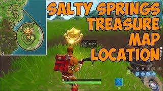 Salty Springs Treasure Map Location   Fortnite Battle Royale