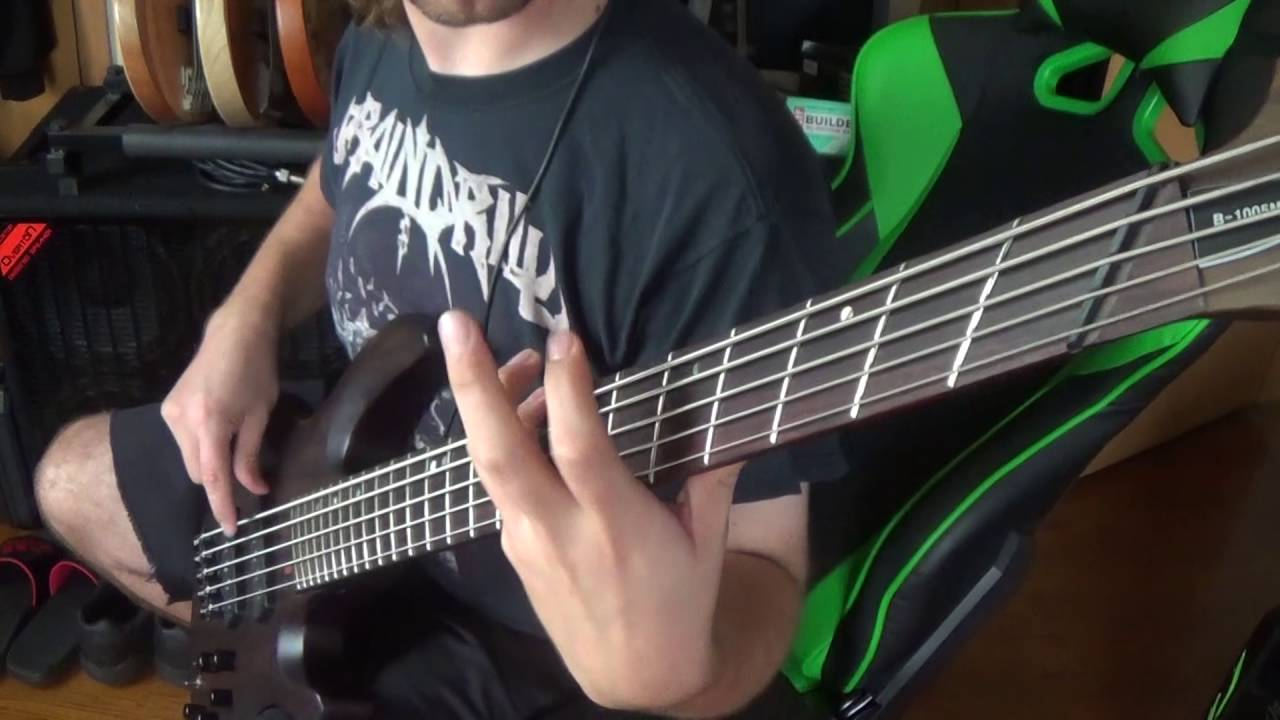 Cannibal Corpse Skewered From Ear To Eye On Bass Guitar Youtube