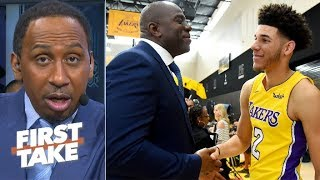 Download Stephen A. to Magic Johnson: Drafting Lonzo Ball was a mistake | First Take Mp3 and Videos