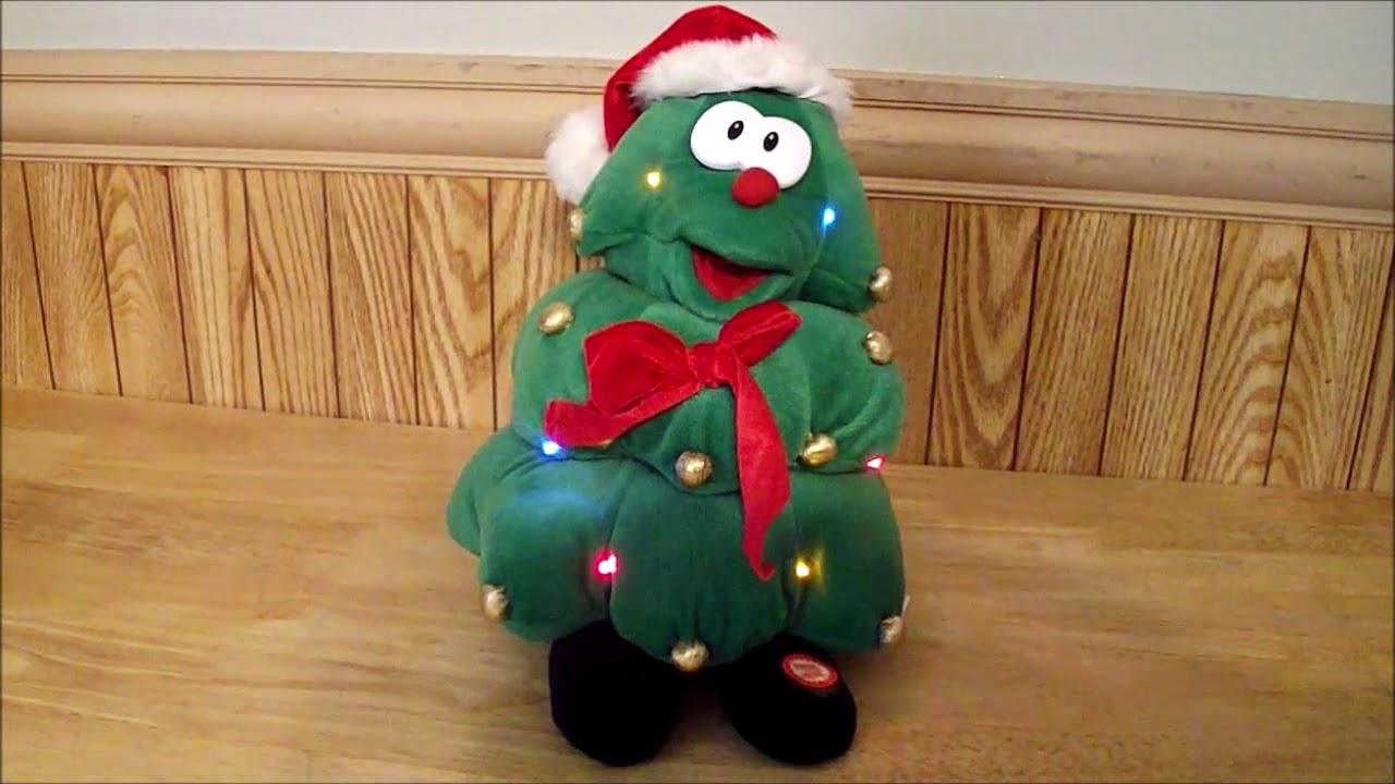 "11"" Plush Animated Light Up Singing Christmas Tree O"