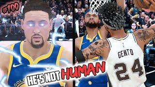 HE'S NOT HUMAN! KLAY GETS REVENGE FOR STEPH CURRY ANKLE BREAKER INJURY! NBA 2k18 MyCAREER EP. 100