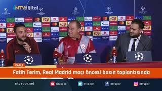 #CANLI - Fatih Terim, Real Madrid maçı öncesi basın toplantısı düzenliyor
