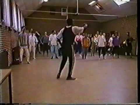 African dancing lesson on Ameland, 1996, part 3