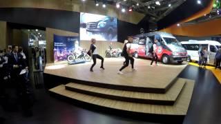 Sprinter шоу на стенде Mercedes-benz (Comtrans 2015 в 4k, 3840х2160)