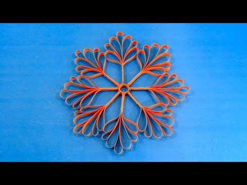 Hanging Paper 3D Christmas Snowflakes Making for Decorations | DIY Ornaments