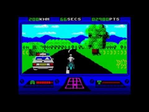 OutRun Europa: ZX Spectrum colour development - Level 1 nearly complete