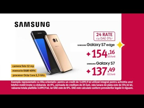 Reclamă ALTEX Samsung S7 Edge 24 rate DAE0% - aprilie 2016