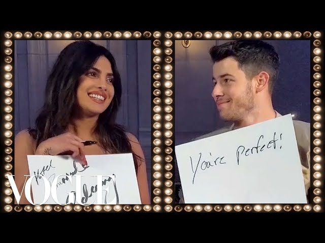 Priyanka Chopra & Nick Jonas Play the Newlywed Game   Vogue