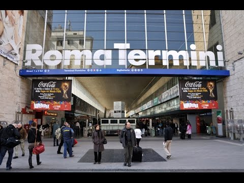 Roma Termini Station Trains Departing